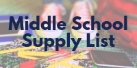 Middle School Supply List